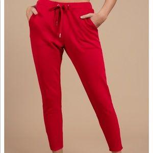 Tobi Red Joggers / Sweatpants